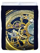 Antique Pocket Watch Gears Duvet Cover by Garry Gay