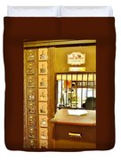 Antique Post Office Letter Boxes At The Boardwalk Plaza In Rehoboth Beach Delaware Duvet Cover