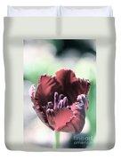 Antique Ruby Tulip Duvet Cover
