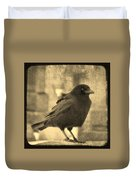 Antique Sepia Crow Duvet Cover