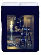 Antique Sewing Items Duvet Cover by Amanda Elwell