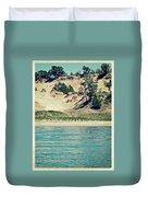 Antique Snapshot Series - Dunes On Lake Michigan Duvet Cover