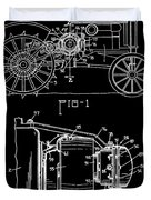 Antique Tractor Patent Duvet Cover