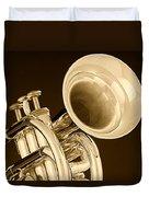 Antique Trumpet Duvet Cover
