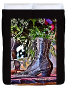 Antique Victorian Boots At The Boardwalk Plaza Hotel - Rehoboth Beach Delaware Duvet Cover