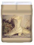 Antique Wedding Shoes Duvet Cover