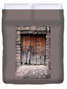 Antique Wood Door Damaged Duvet Cover
