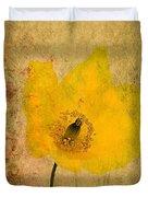 Antique Yellow Flower Duvet Cover