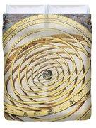 Antique Zodiacal Planetarium Duvet Cover