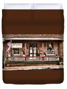 Antiques Bought And Sold Duvet Cover by Heather Applegate
