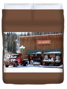 Antiques In The Mountains Duvet Cover