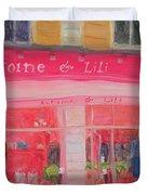 Antoine & Lili, 2010 Oil On Canvas Duvet Cover