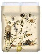 Ants Spiders Tarantula And Hummingbird Duvet Cover