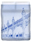 Antwerp Railway Bridge Blueprint Duvet Cover