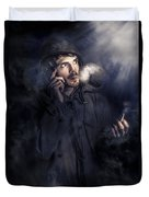 Anxious Australian Sas Soldier On Night Watch Duvet Cover