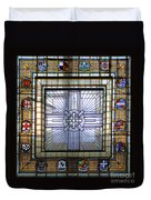 Anzac Day 2014 Auckland War Memorial Museum Stained Glass Roof Duvet Cover