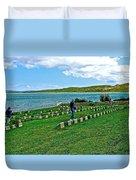Anzak Cemetery Along The Dardenelles In Gallipolii-turkey Duvet Cover