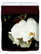 Aos White Orchid 1 Duvet Cover