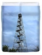 Apalachee Fire Tower In Morgan County Duvet Cover