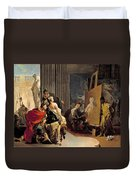 Apelles Painting The Portrait Of Campaspe Duvet Cover