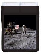 Apollo 16 Lunar Landing Astronaut Young Duvet Cover