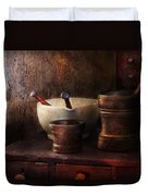 Apothecary - Pick A Pestle  Duvet Cover by Mike Savad