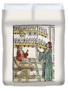 Apothecary Shop, 1500 Duvet Cover