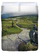 Appalachian Trail Mountain Path Saddleback Maine Duvet Cover