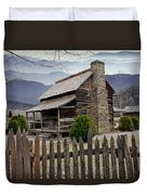 Appalachian Mountain Cabin Duvet Cover by Randall Nyhof