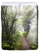 Appalachian Trail Duvet Cover by Debra and Dave Vanderlaan
