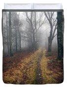 Appalachian Trail Fog Duvet Cover