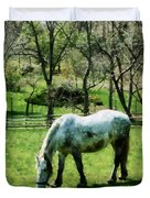 Appaloosa In Pasture Duvet Cover