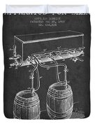 Apparatus For Beer Patent From 1900 - Dark Duvet Cover