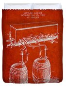 Apparatus For Beer Patent From 1900 - Red Duvet Cover