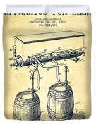 Apparatus For Beer Patent From 1900 - Vintage Duvet Cover