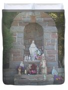 Apparition Of Virgin Mary Duvet Cover