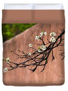 Apple Blossom Branch Duvet Cover