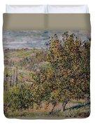 Apple Blossom Duvet Cover by Claude Monet