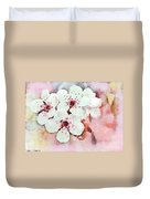 Apple Blossoms Pink - Digital Paint Duvet Cover