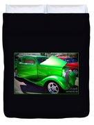 Apple Green Jewel Duvet Cover