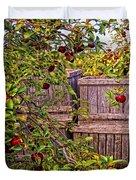 Apple Orchard Harvest Duvet Cover