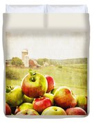 Apple Picking Time Duvet Cover by Edward Fielding