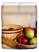 Apple Pie Impressions Duvet Cover