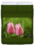Apple Pink Tulips Duvet Cover