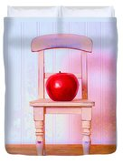 Apple Still Life With Doll Chair Duvet Cover by Edward Fielding