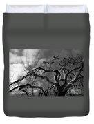 Apple Tree Bw Duvet Cover
