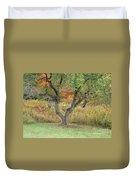 Apple Tree In Autumn Duvet Cover