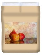 Apples And A Pear Duvet Cover