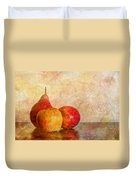 Apples And A Pear II Duvet Cover