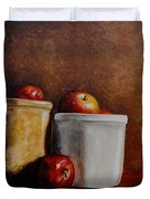 Apples And Jars Duvet Cover